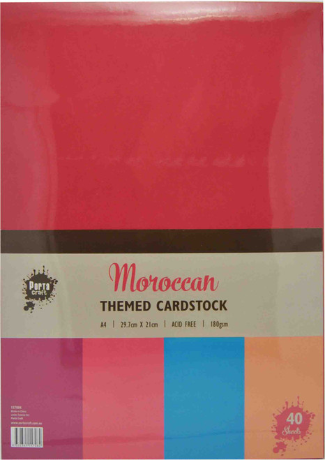 Colour Block (Assorted) A4 220gsm 40pk Moroccan (Product # 157053)