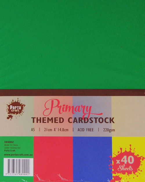 Colour Block A5 220gsm 40pk Primary (Product # 089002)