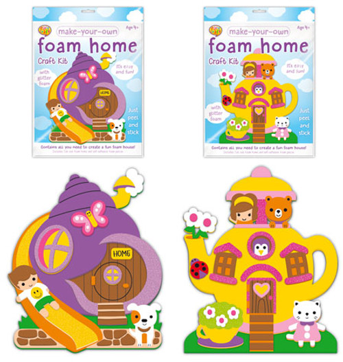 MYO Home Foam Craft Kit 2 Assorted (Random Picked) Designs (Product # CR0386)