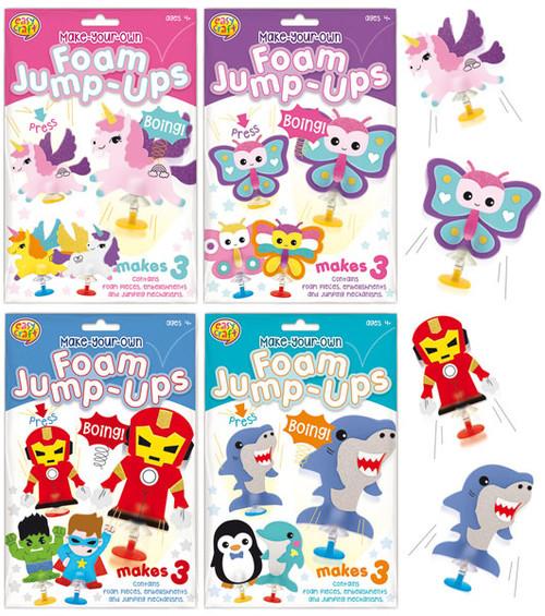 MYO Foam Jump-Ups Craft Kit 4 Assorted (Random Picked) Designs (Product # 160282)