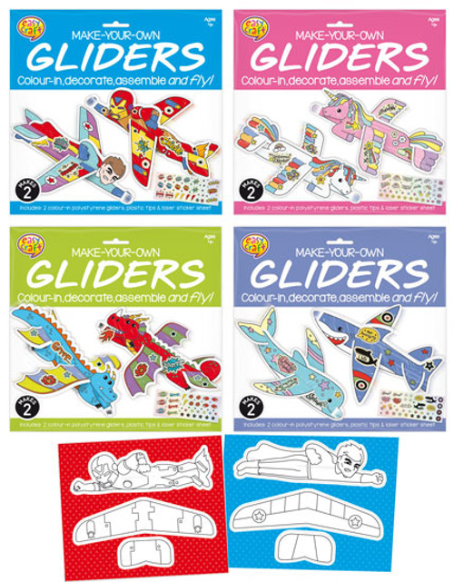 MYO Gliders Craft Kit 4 Assorted (Random Picked) Designs (Product # 160602)