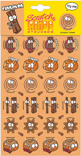 Scratch N Sniff Stickers - Cinnamon Scented (Product # 166635)