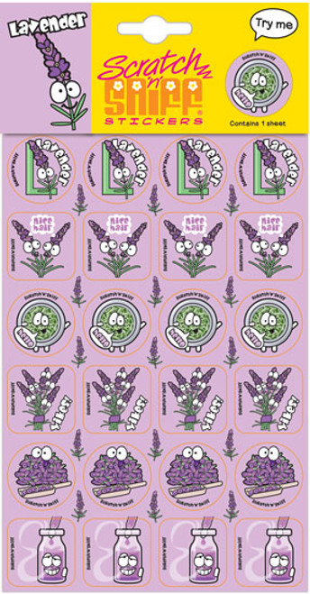 Scratch N Sniff Stickers - Lavender Scented (Product # 166642)
