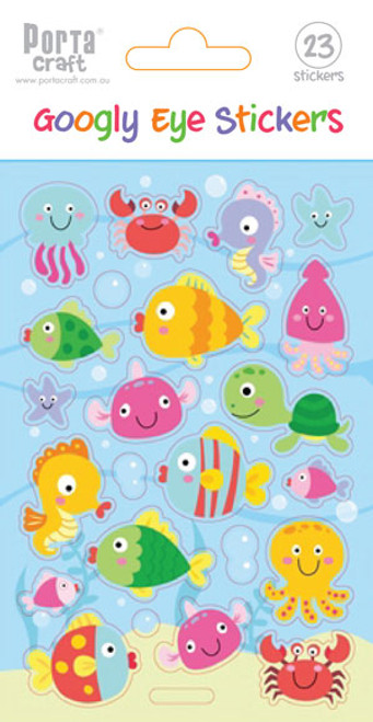 Sticker Sheet Clear Googly Eye Fish (Product # 137260)