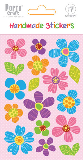 Sticker Sheet 3D Flowers Bright (Product # 137444)