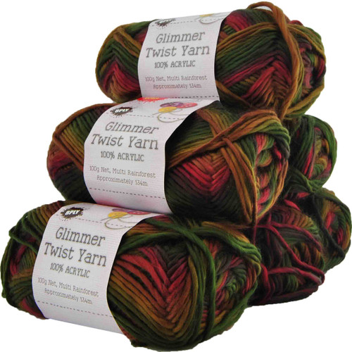 Glimmer Twist Yarn 100g 134m Rainforest (Product # 142189)