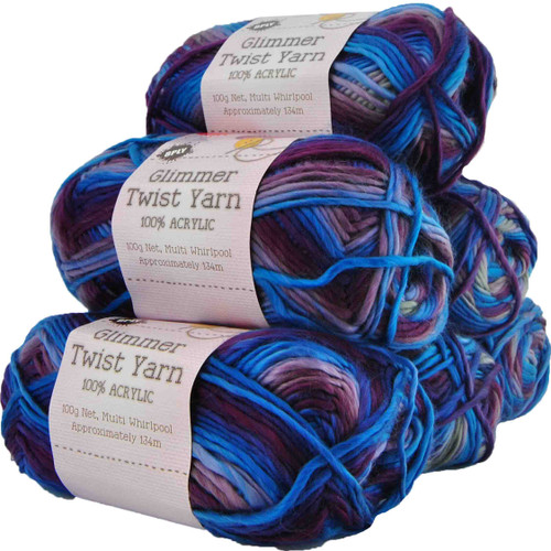 Glimmer Twist Yarn 100g 134m Whirlpool (Product # 142202)
