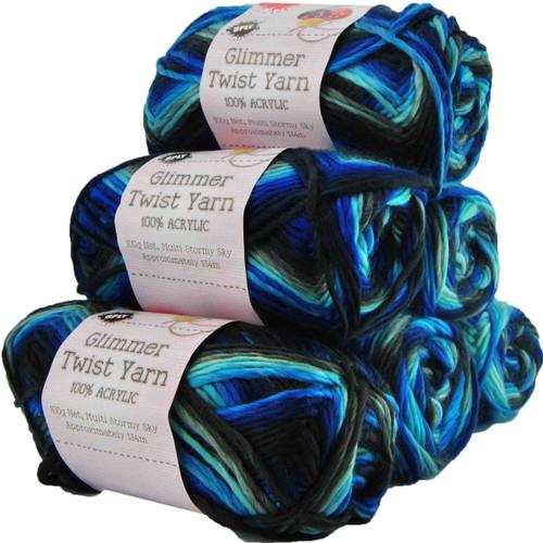 Glimmer Twist Yarn 100g 134m Stormy Sky (Product # 142219)