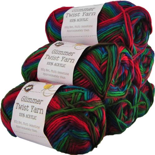 Glimmer Twist Yarn 100g 134m Gemstone (Product # 142226)