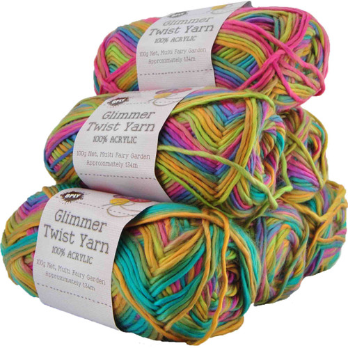 Glimmer Twist Yarn 100g 134m Fairy Garden (Product # 142240)