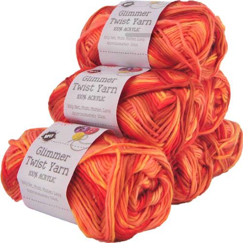 Glimmer Twist Yarn 100g 134m Molten Lava (Product # 142257)