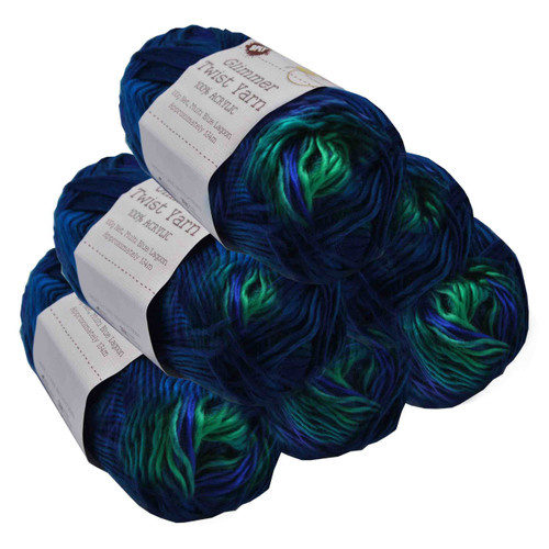 Glimmer Twist Yarn 100g 134m Blue Lagoon (Product # 152218)