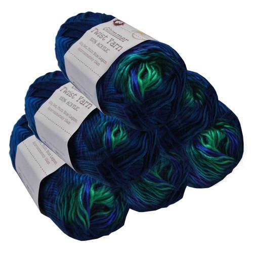 Glimmer Twist Yarn 100g 134m Blue Lagoon (Product # 152218)