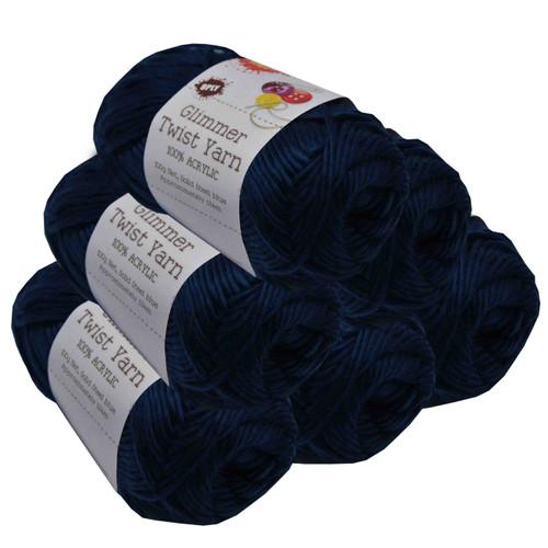 Glimmer Twist Yarn 100g 134m Steel Blue (Product # 152232)