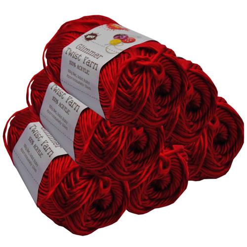 Glimmer Twist Yarn 100g 134m Ruby (Product # 152249)