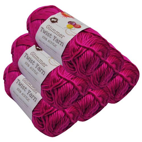 Glimmer Twist Yarn 100g 134m Fuchsia (Product # 152256)