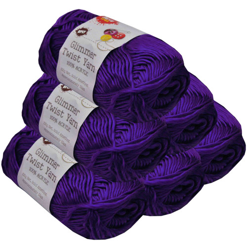 Glimmer Twist Yarn 100g 134m Amethyst (Product # 152263)