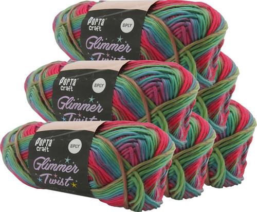 Glimmer Twist Yarn 100g 222m Macaw (Product # 161555)