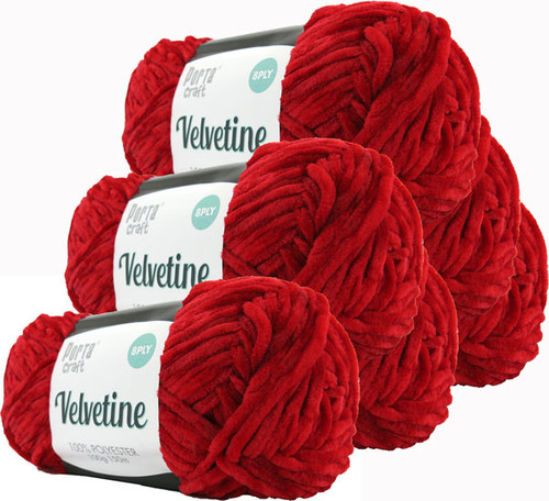 Velvetine Yarn 100g 150m Red (Product # 163481)