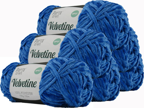 Velvetine Yarn 100g 150m Regal Blue (Product # 163511)