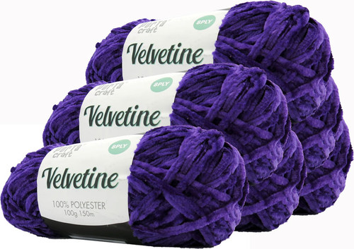 Velvetine Yarn 100g 150m Elegant Purple (Product # 163559)