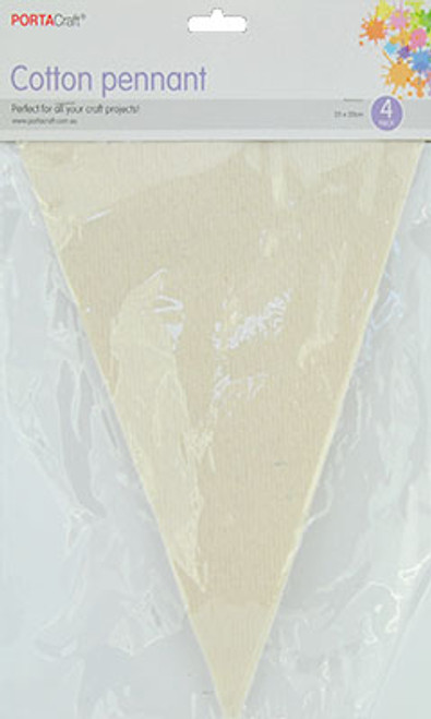 Cotton Pennants 200x250mm 4pk Triangle (Product # 138366)