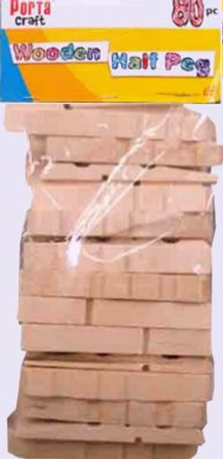 Clothes Pegs Half 80 Pack Natural (Product # 067765)