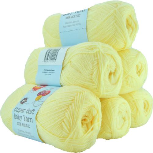 Super Soft Baby Acryl Yarn 420m 4ply Lemon (Product # 142295)