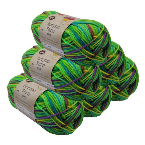 Rainbow Acryl Yarn 100gm 189m 8ply Green (Product # 152416)