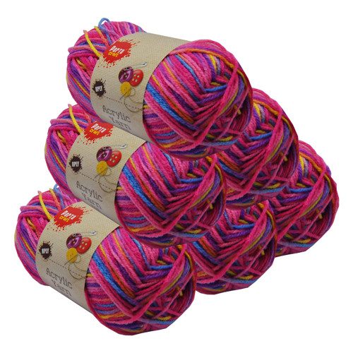 Rainbow Acryl Yarn 100gm 189m 8ply Tutti Frutti (Product # 152423)