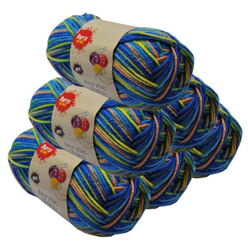 Rainbow Acryl Yarn 100gm 189m 8ply Paddle Pops (Product # 152447)