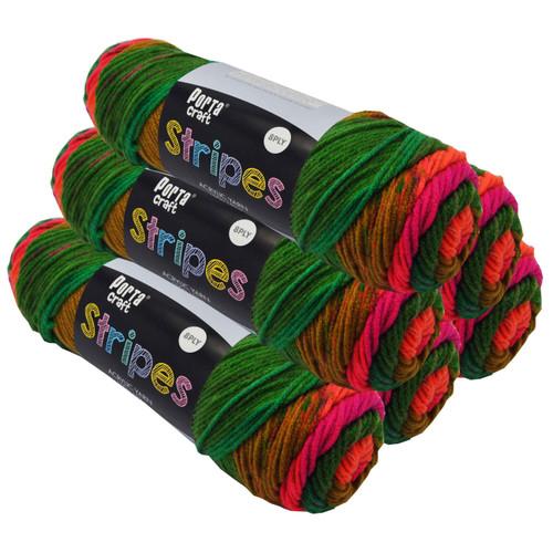Stripes Acryl Yarn 100g 188m 8ply Preppy (Product # 153154)