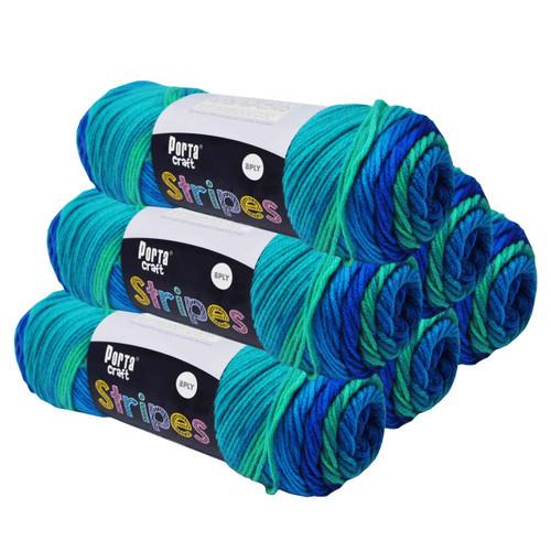 Stripes Acryl Yarn 100g 188m 8ply Cool (Product # 153208)