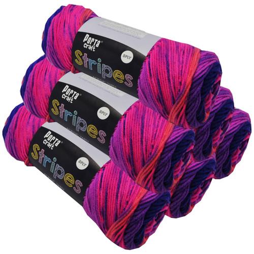 Stripes Acryl Yarn 100g 188m 8ply Flamenco (Product # 153239)