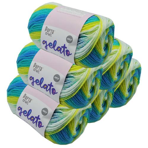 Gelato Acryl Yarn 100g 360m 4ply Lemon Swirl (Product # 153284)