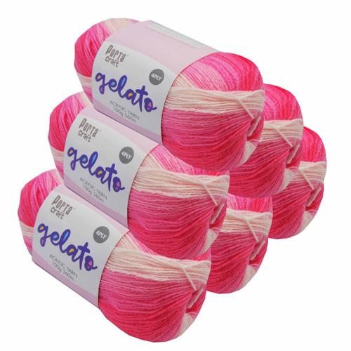 Gelato Acryl Yarn 100g 360m 4ply Strawberry (Product # 153291)