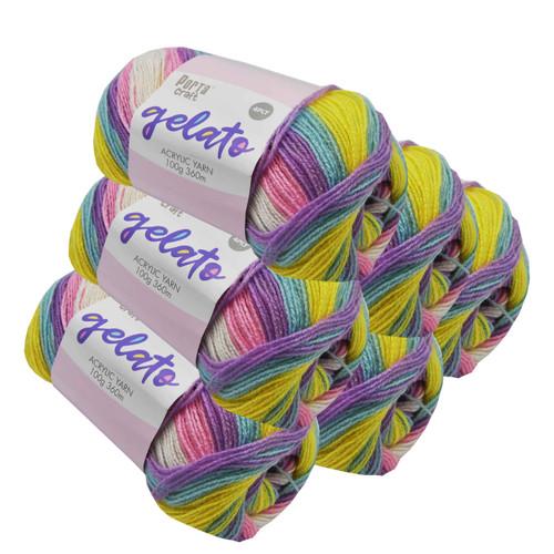 Gelato Acryl Yarn 100g 360m 4ply Cotton Candy (Product # 153307)