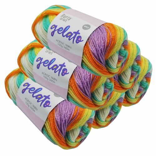 Gelato Acryl Yarn 100g 360m 4ply Tutti Frutti (Product # 153314)