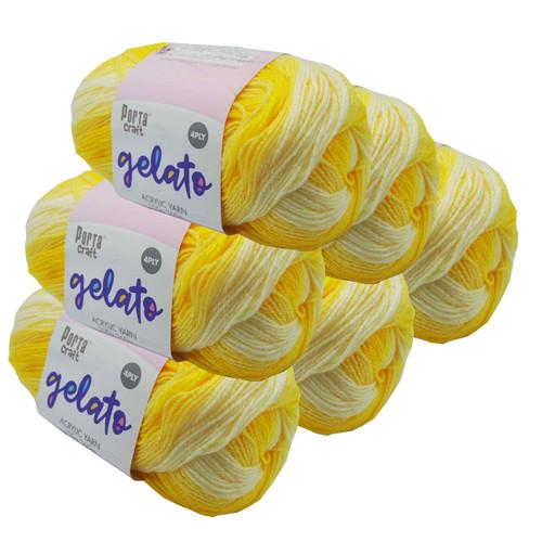 Gelato Acryl Yarn 100g 360m 4ply Banana Split (Product # 153321)
