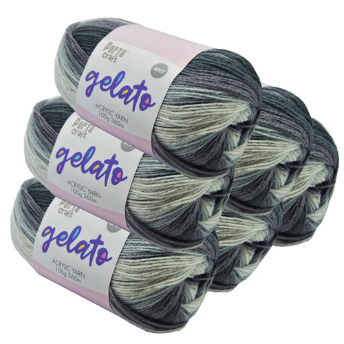 Gelato Acryl Yarn 100g 360m 4ply Cookie and Cream (Product # 153345)