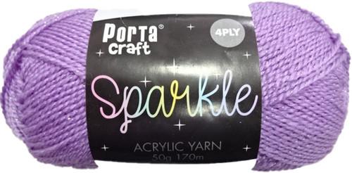 Sparkle Acryl Yarn 50g 170m Purple (Product # 163177)