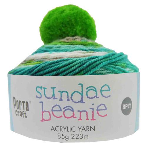 Sundae Beanie Acryl Yarn 85g 8ply Mint Smoothie (Product # 152300)