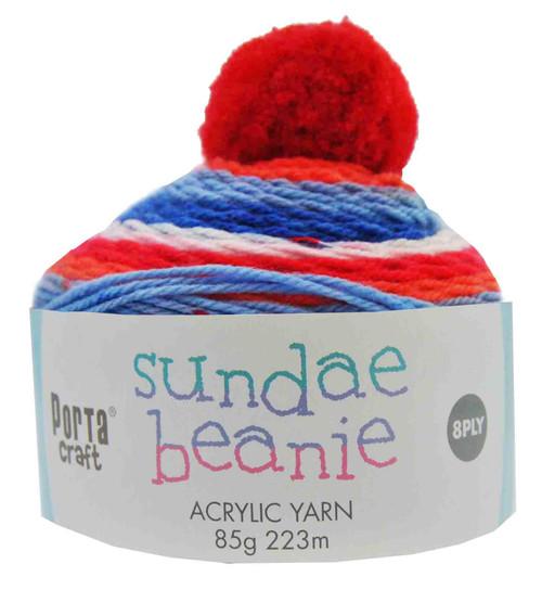 Sundae Beanie Acryl Yarn 85g 8ply Cherry On Top (Product # 152379)