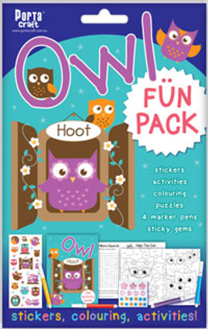 Activity Fun Pack Owl x4 (Product # 143711)