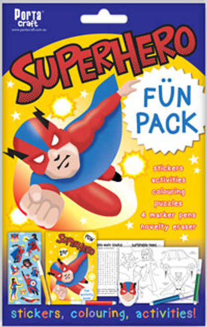 Activity Fun Pack Superhero x4 (Product # 143773)