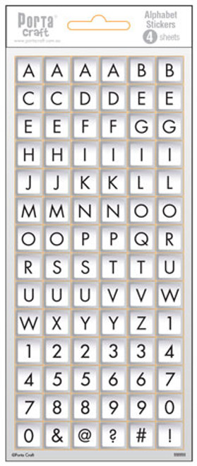 Alpha Stickers Label Keyboard 4 Sheets (Product # 135594)