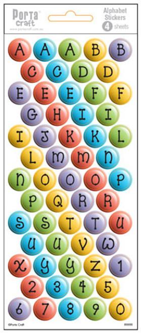 Alpha Stickers Bubbles Multi Colour 4 Sheets (Product # 135631)