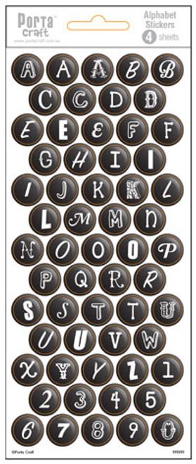 Alpha Stickers Bubbles Black 4 Sheets (Product # 135648)