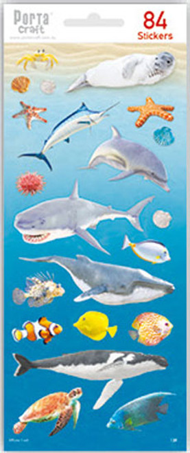 Sticker Sheets #13 Sea (Design R) 4 Sheets (Product # 128152.13R)