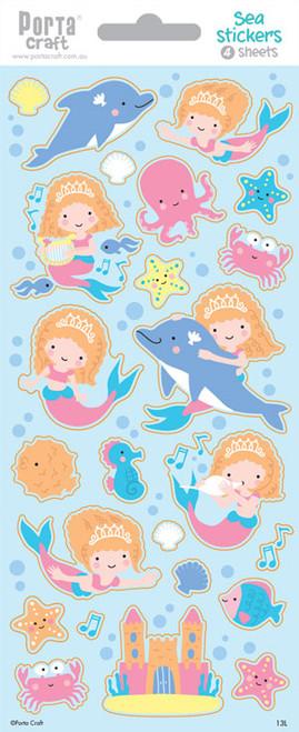 Sticker Sheets #13 Sea (Design L) 4 Sheets (Product # 128152.13L)